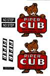 1/3 Scale J-3 Cub Vinyl Decal Set