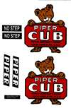 1/4 Scale J-3 Cub (Bear Cub) Vinyl Decal Set