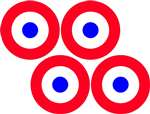 1/3 Scale Morane Saulnier Vinyl Roundel Decal Set