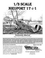 1/3 Scale Nieuport 17 Instruction Manual only