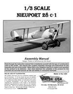 1/3 Scale Nieuport 28 Instruction Manual only