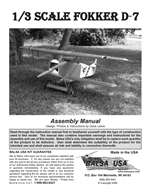 1/3 Scale Fokker D-7 Instruction Manual only