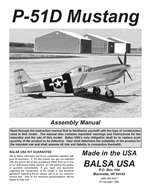 P-51D Mustang Instruction Manual only