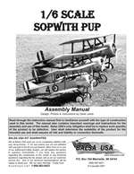 1/6 Scale Sopwith Pup Instruction Manual only