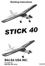 Stick 40 Plus Instruction Manual only
