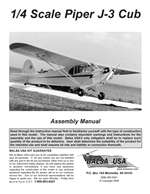 1/4 Scale J-3 Cub Instruction Manual only