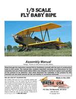 1/3 Scale Fly Baby Biplane Instruction Manual only