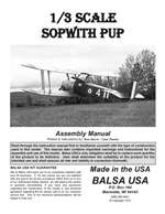 1/3 Scale Sopwith Pup Instruction Manual only