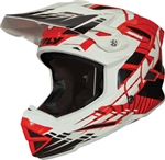 Fly Racing DEFAULT BMX Adult Helmet RED-WHITE