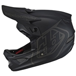 2018 Troy Lee Designs D3 MONO Fiberlite Helmet - Black