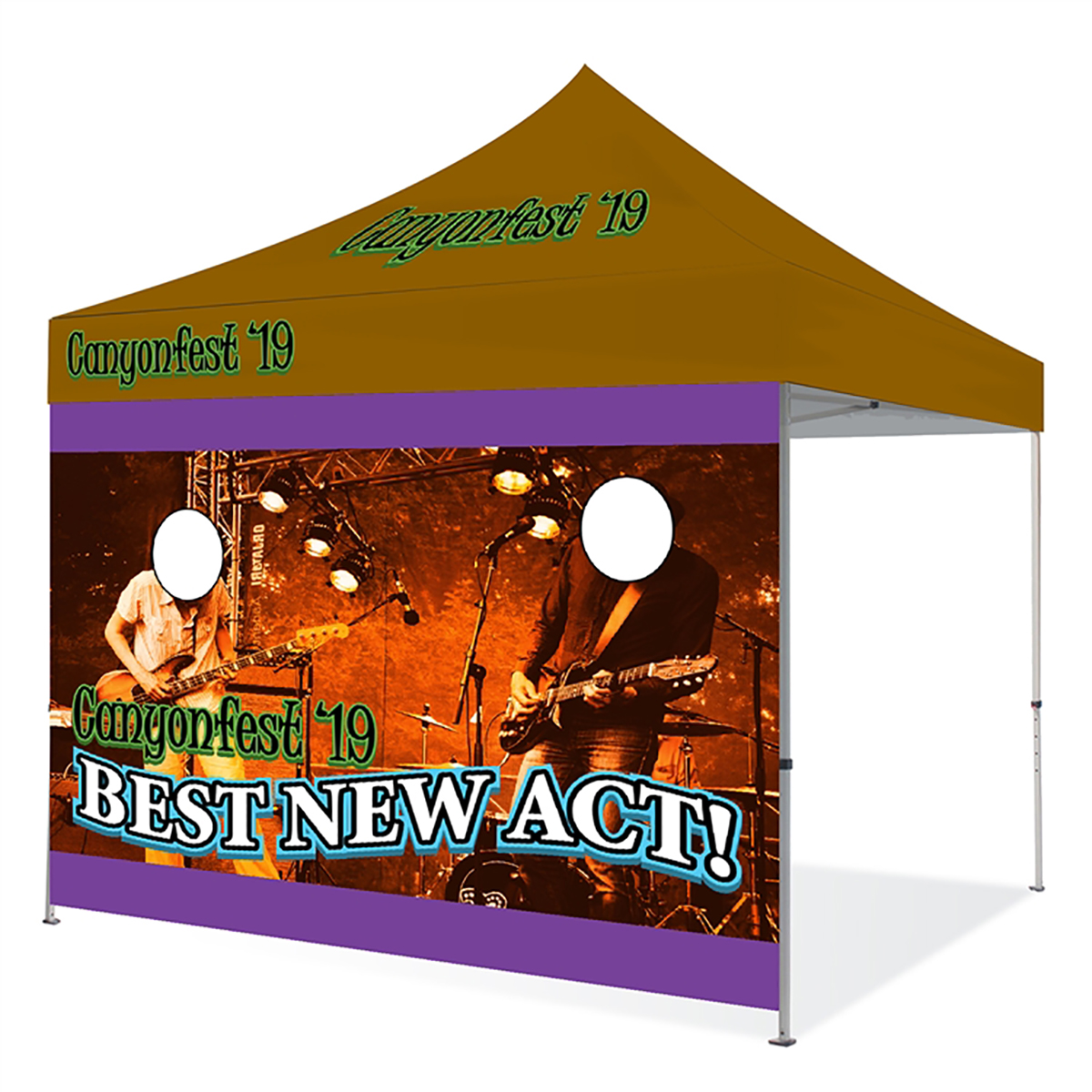 10ft Pop Up Canopy Wall - Face
