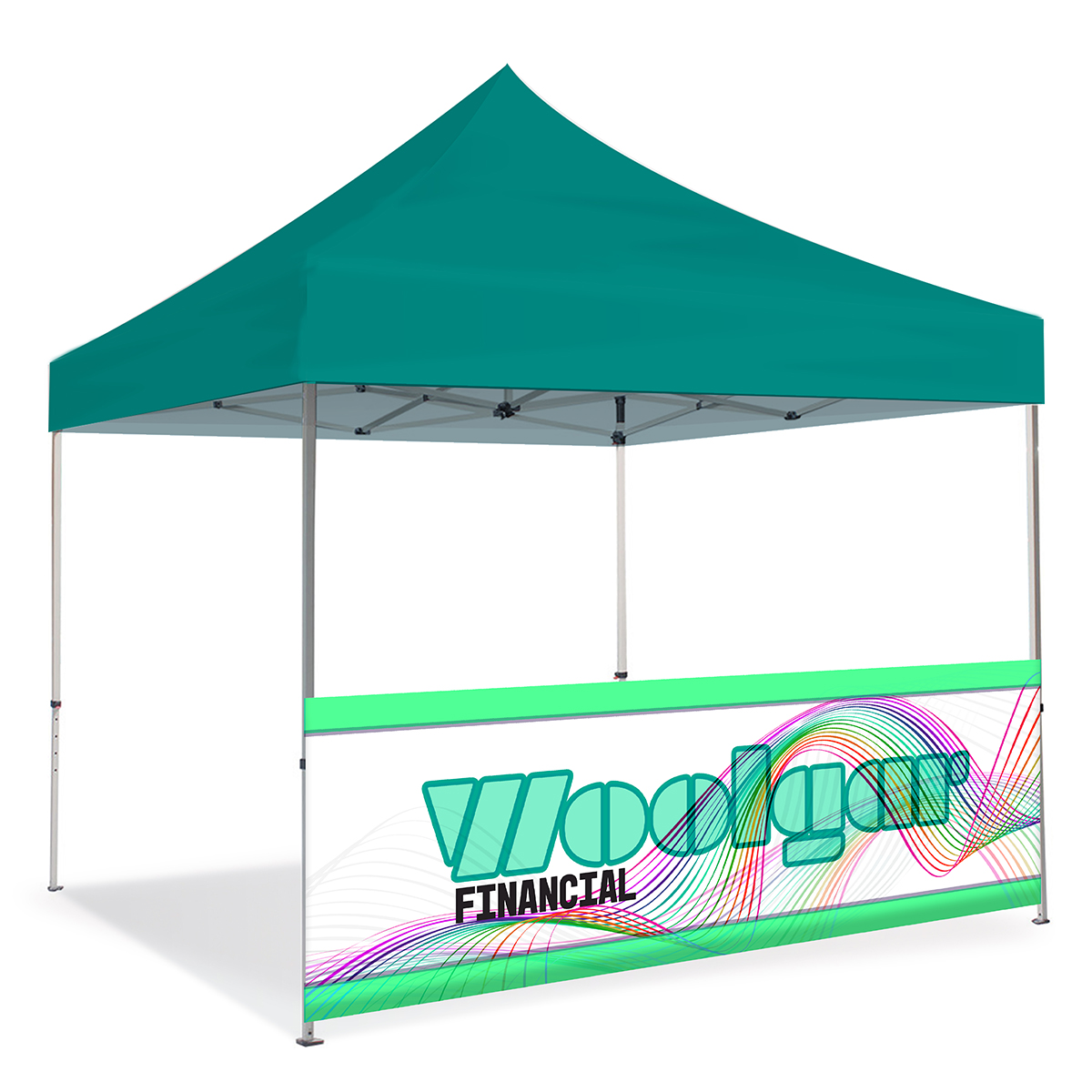 10ft Pop Up Canopy Wall - Half Wall - Double sided