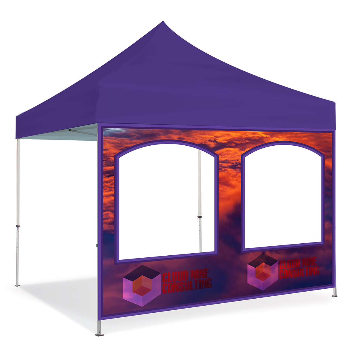10ft Pop Up Canopy Wall - Double Window