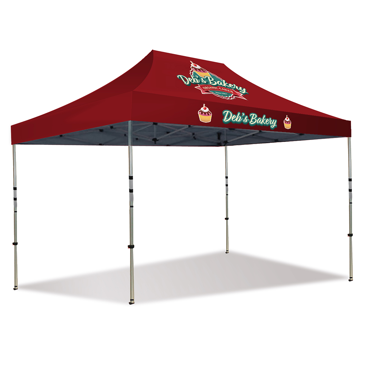 15ft Pop Up Canopy - Full Color (Front Panel Only)