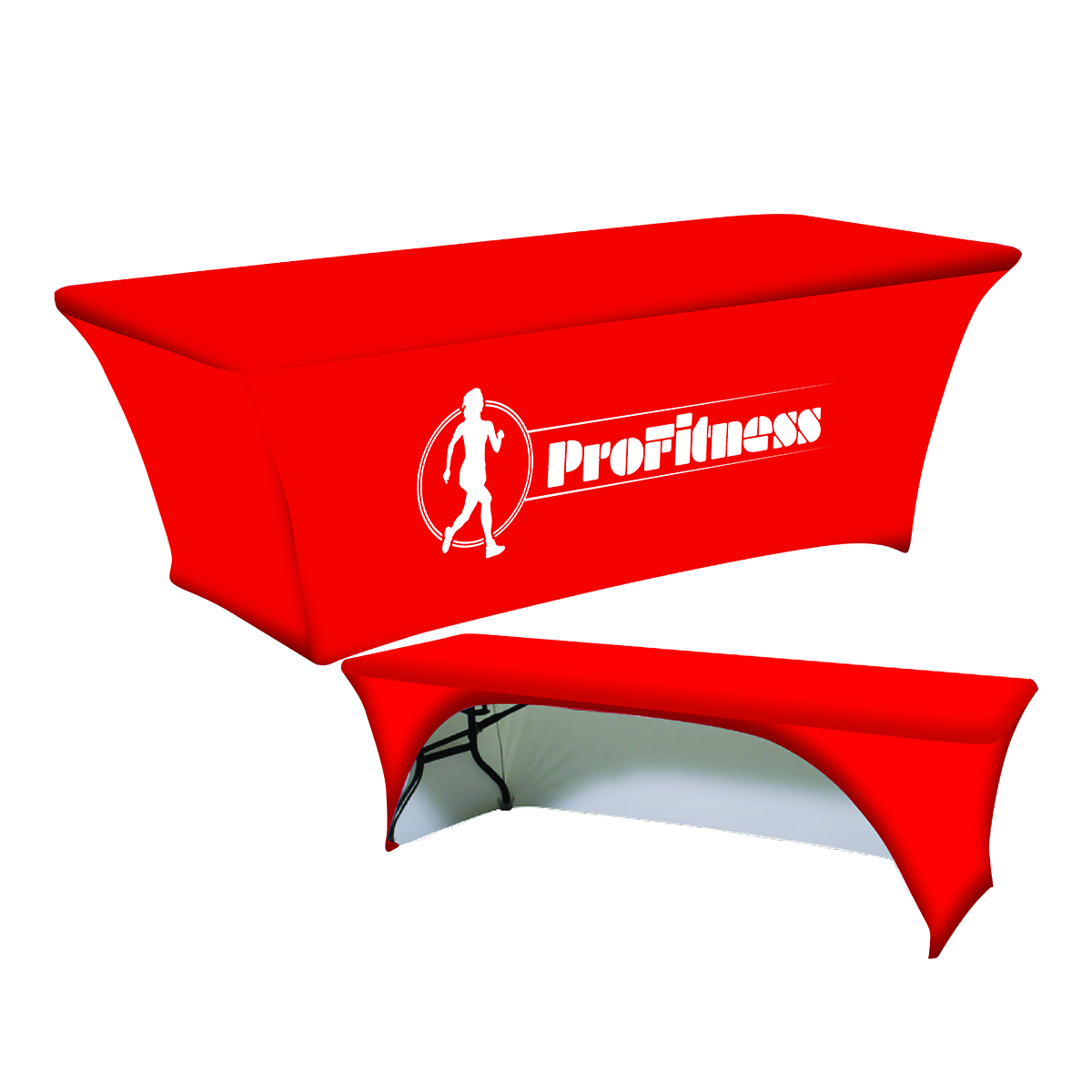 8ft Supreme Fit Curve Table Throw - Front Panel