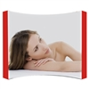 10ft Fabric Pop Up Display - Curved - With Graphic