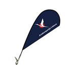 Mini Teardrop Flag - Single Sided Clip