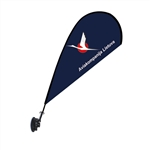 Mini Teardrop Flag - Single Sided Suction Cup