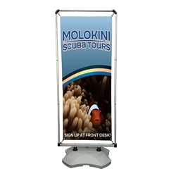 Outdoor Wave Display with Water Base - Single Sided Vinyl - Small