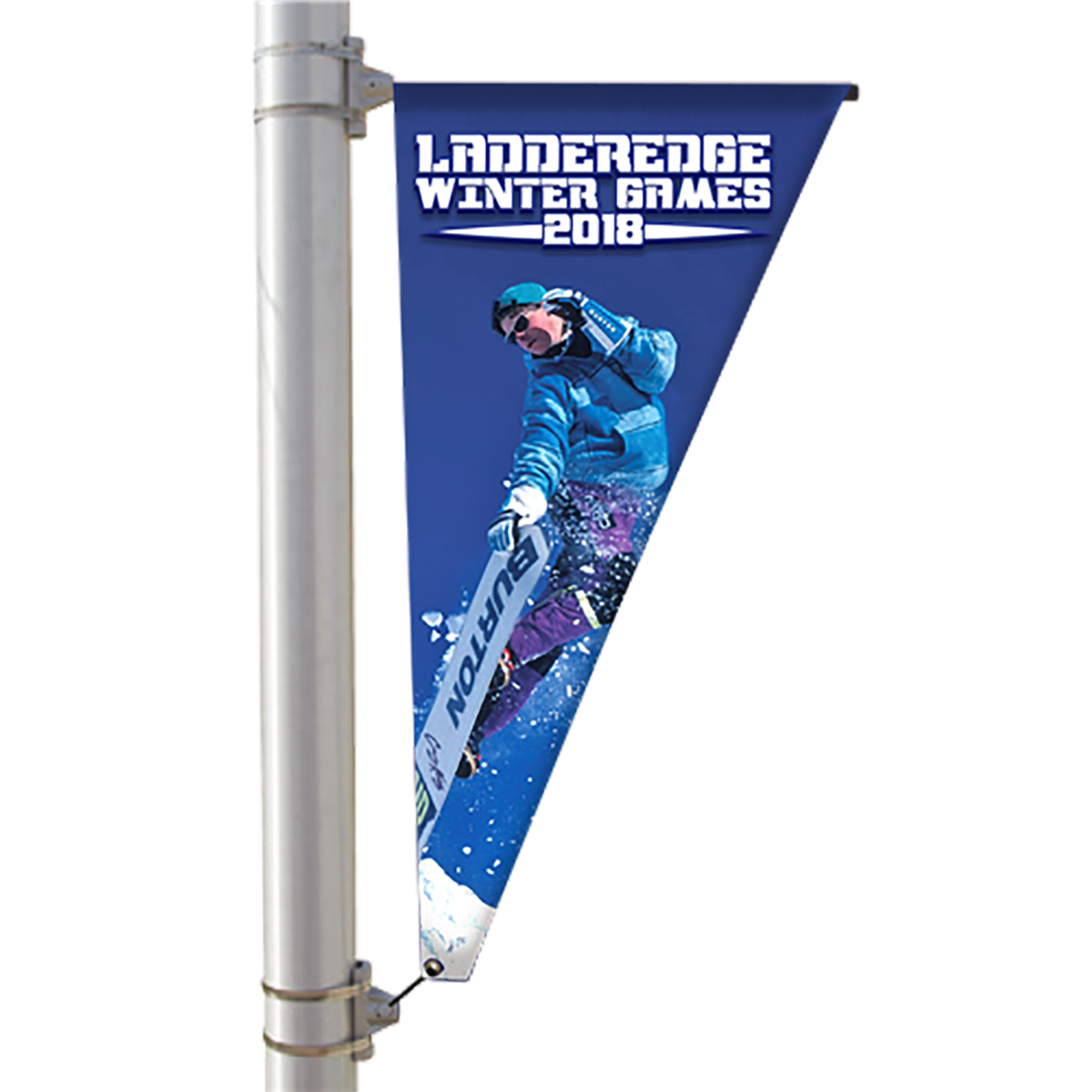"24"" Single Sided Pole Banner - Triangle"