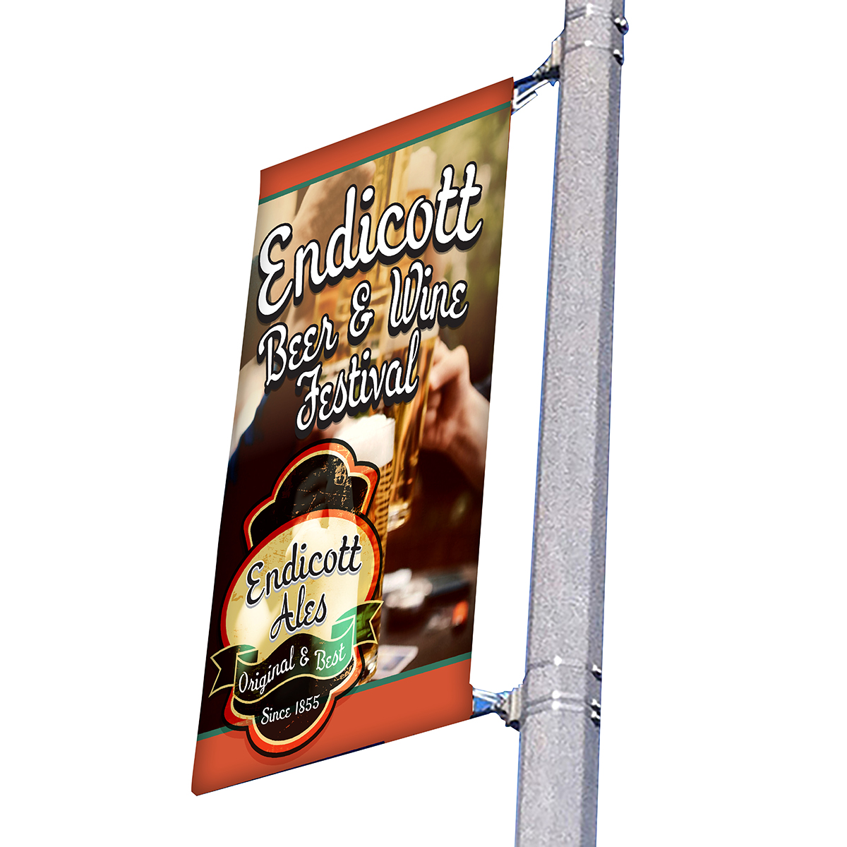 "30"" wide single side pole banner"