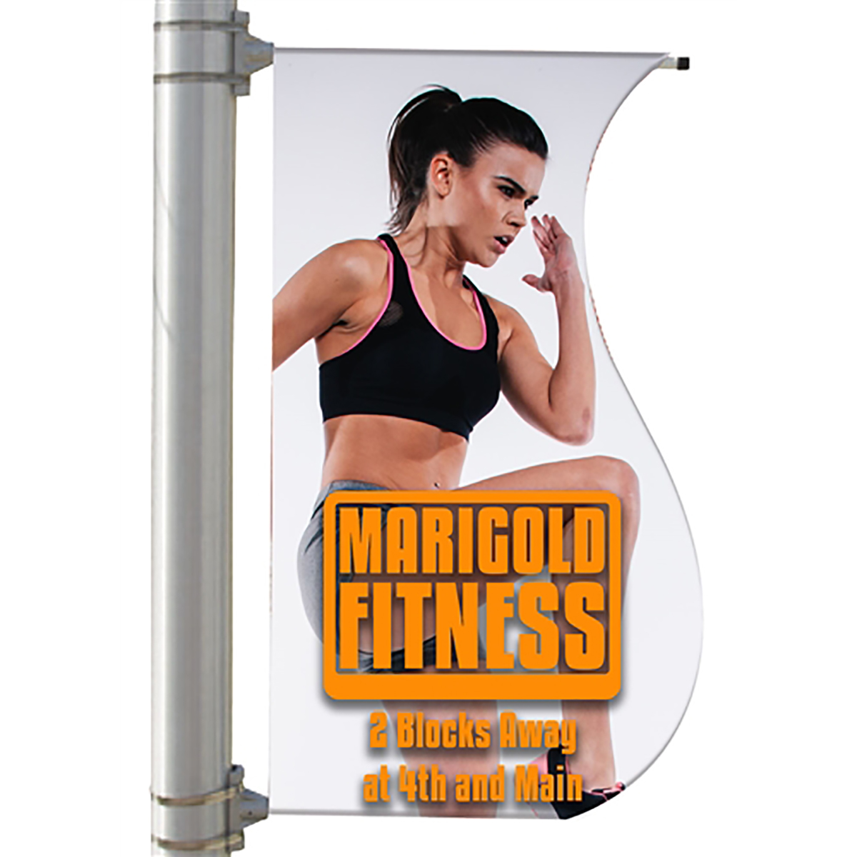 "30"" Single Sided Pole Banner - S-Shaped"