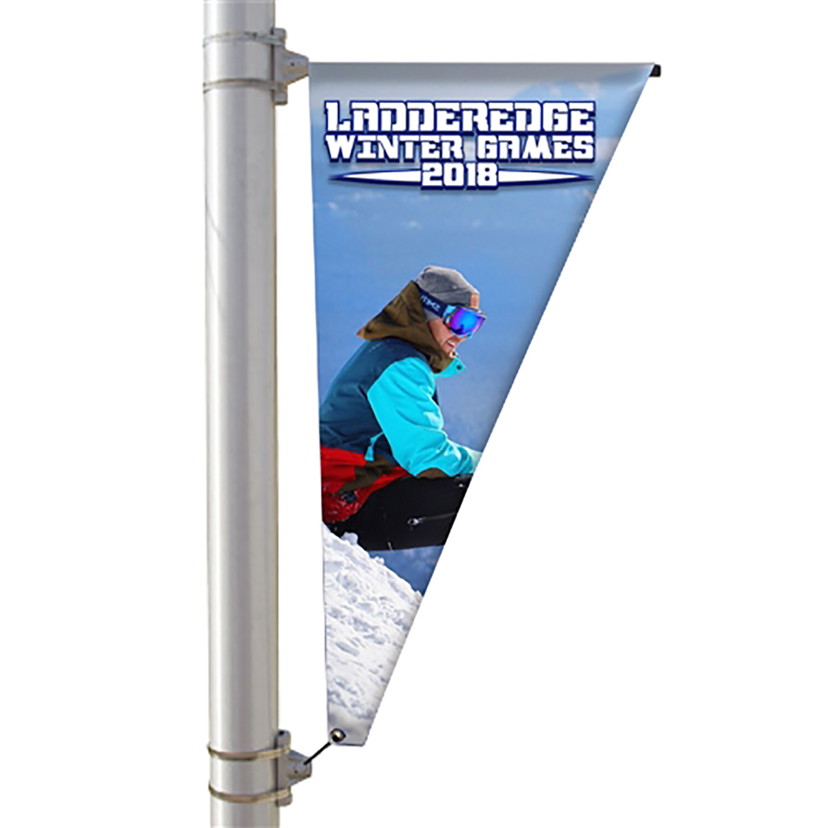 "30"" Single Sided Pole Banner - Triangle"