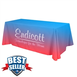 Standard 8ft Table Throw - Full Color - 3 sided