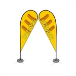 Double Sided Teardrop Flag - Medium