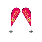 Double Sided Teardrop Flag - Small