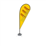 Single Sided Teardrop Flag - Medium