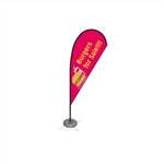 Single Sided Teardrop Flag - Small