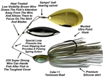 Picasso Spinnerbaits -  INVIZ-WIRE- Willow Indiana-Super Strong