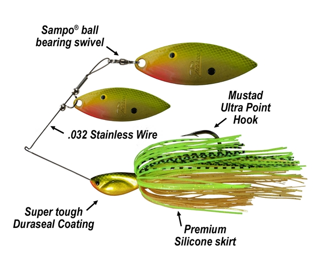 Picasso Spinnerbaits Double Willow Painted Blades