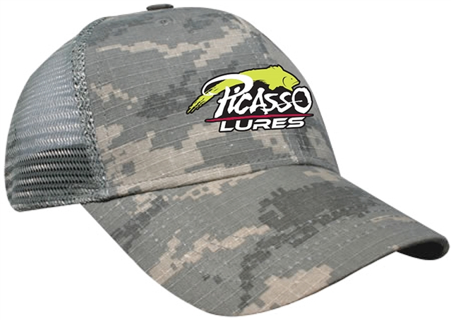 Picasso Mesh Snap Back Hats Digital Grey Camo