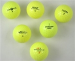 100 AAA Yellow Colored Used Golf Balls