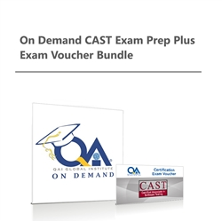On Demand CAST Exam Prep plus Exam Voucher Bundle