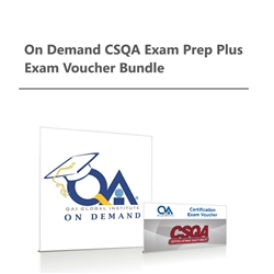 On Demand CSQA Exam Prep plus Exam Voucher Bundle