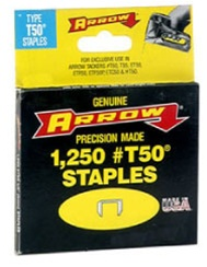 "AFT50-1/2 Arrow T50 1/2"" Staples 1250/Pk."