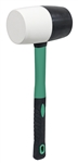 AIC31321 32oz Black & White Rubber Mallet w/Fiberglass Handle