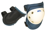 AIKE50903 Hard White Plastic Cap Knee Pads/Buckle Fastening System
