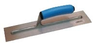 "ALL418D 18"" x 4"" Carbon Steel Cement Finishing Trowel With Blue Sure Grip Handle"