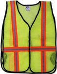 ASIA49L Safety Vest-Mesh Lime Strip Size Large