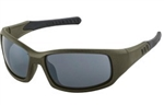 ERB17581 Olive Green Metallic Frame/Gray Mirror Lens Safety Glasses