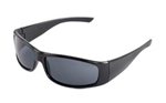 ERB18026 Gray Lens/Black Frame Safety Glasses