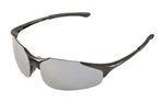 ERB18030 Silver Mirror/Black Frame Safety Glasses