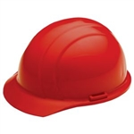 ERB19364 Red Ratchet Hard Hat/Osha Approved