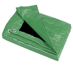 HG1012GB 10' x 12' Green/Black Poly Tarp