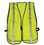 IRW1217L Economy Safety Vest Lime Strip One Size Fits All