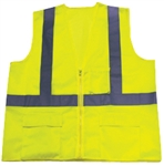 IRW1284LZ Safety Vest-Mesh Lime Strip Size Large